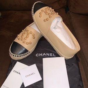 CHANEL CAMELLIA ESPADRILLES size 40